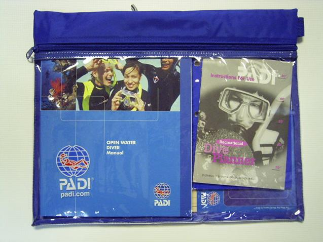 PADI Open Water Scuba lessons home study kit